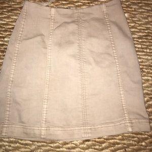 Free People Tan Skirt
